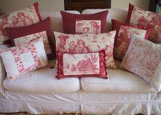 Toile de Jouy pillows