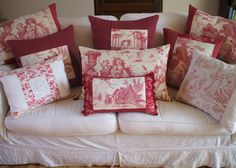 ANTIQUE FRENCH PILLOW antique french toile by vintagefrenchstyle, $75.00