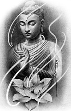 Buddha Tattoo Design, Clock Tattoo Design, Tattoo Design Drawings, Skull Sleeve Tattoos, Body Art Tattoos, Rose Tattoos, Budha Art, Mago Tattoo, Ganesha Tattoo