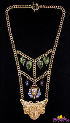 1-5. Ebay-King Tut Necklace Our new runway jewelry on ETSY: https://www.etsy.com/shop/TheKingsThings