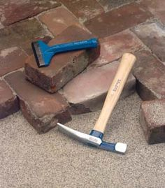 Outdoor DIY Project: Lay Down A Recycled Brick Path ... Doing this using bricks from my grandparents' chimney that is being removed this summer!!
