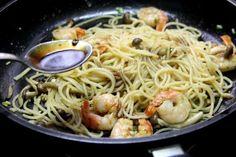 Spaghetti Sauteed With Mushrooms