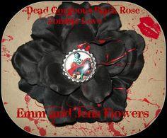 Drop Dead Gorgeous Black Rose Hair Clip4 by Emmandjensflowers, $6.75
