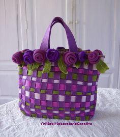 bolsa de feltro entrelaçada