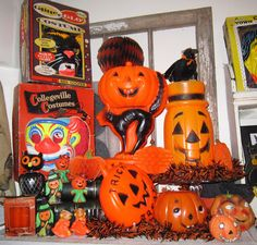 My vintage Halloween display - monkeybox