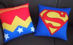 Almofadas do Super-homem para o sofá ou cama