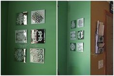 DIY Frosted Glass Projects - Mirrors, vases, candles, etc... good inspirations