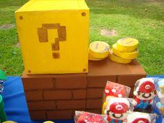 Décor at a Super Mario Bros. Party #supermario #partydecor