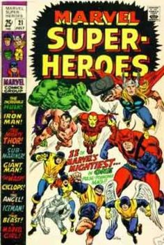 MARVEL SUPER-HEROES 21 BRONZE AGE MARVEL COMICS