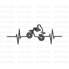 Dirtbike Dirt Bike EKG SVG DXF png file for Cricut Cameo and other electronic cutting machines - I Love Motorrad Motocross Tattoo, Dirt Bike Tattoo, Biker Tattoos, Motorcycle Tattoos, Tatouage Dirt Bike, Bike Drawing, Bike Stickers, How To Make Stencils, Dirt Bikes