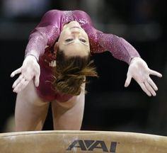McKayla Maroney vaults during the final night of the 2012 USA Gymnastics Olympic Trials.  She finished atop of the event standings after the end of competition.