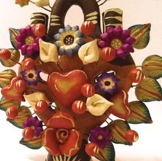 Arbol de Vida, Tree of Life, Corazon Water Me, Southwest Style, Mexican Folk Art, Bowser, Mexico, Curiosity, Trees, Earth, Colour