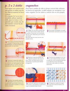 Angel Telar: TECNICAS BASICAS PARA REALIZAR TELAR TAPIZ Tapestry Weaving, Tapestry Wall Hanging, Loom Knitting, Rug Hooking, Surface Design, Hand Weaving, Textiles, Color, Weave