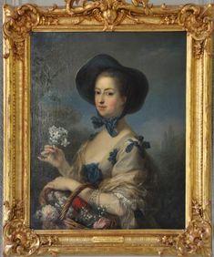«Madame de Pompadour» par Charles–André van Loo