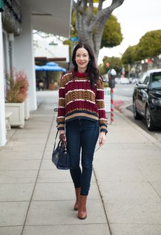 Tommy Hilfiger Collection Sweater, J. Crew Jeans, Calvin Klein Boots, Los Angeles Fashion Blogger
