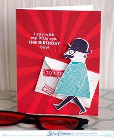 1/13/2015; Betsy Veldman at 'Paper Scissors SuperHeroes' blog; Secret Agent stamp set and dies