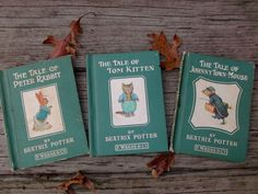 Vintage Beatrix Potter Books Tom Kitten Peter Rabbit Johnny Town Mouse F. Warne & Co.    offered by #rubylane shop Saltymaggie's Treasures