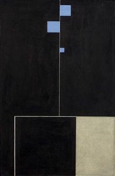 blastedheath: Carl Buchheister (German, 1890-1964), Dreiformvariation, 1928. Oil on paper laid down on cardboard, mounted on plywood, 77.5 x 50.5 cm.