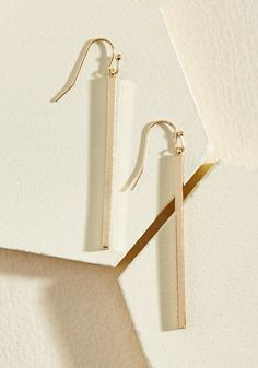 Key to Simplicity Earrings in Gold | ModCloth