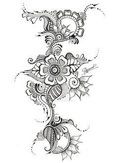 modèle tatouage Fleur maori - #328213