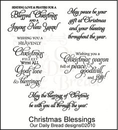 Free printable christmas card sayings crafts christmas blessings m4hsunfo