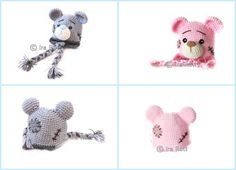 Handmade Crochet Classic Teddy Bear Hat for Newborns, Infants, Toddlers, Kids, Teens and Adults