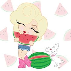 Enjoying a sweet summer treat. Happy #nationalwatermelonday! #MiniMarilyn