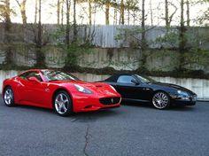 Ferrari and Maserati shots