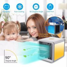Us Plug Mini Cleaning Appliance Parts Home Appliance Parts Small Home Electric Fan Dormitory Air Conditioner Charge Small Fans Office Desktop Student Bed Nothing Leaf Fan Can Be Repeatedly Remolded.