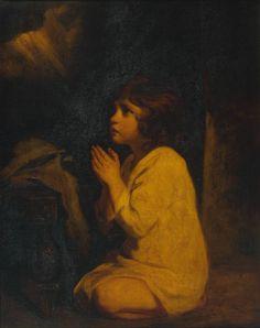 """The Infant Samuel"" by Sir Joshua Reynolds circa 1776 (oil on canvas)"
