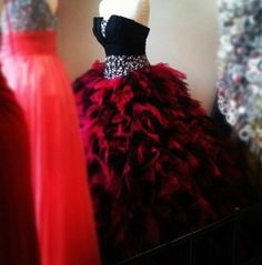 In red and black quinceanera dresses | ms1vzf-l-610x610-dress-red-dress-black-dress-quinceanera-dresses ...