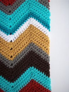 Crochet+Chevron+Patterned+Infinity+Scarf+by+FromMyNeedle+on+Etsy