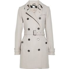 Burberry Brit Double-breasted wool-blend coat ($995) via Polyvore