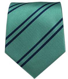- Double Stripe - Aqua/Navy Ties
