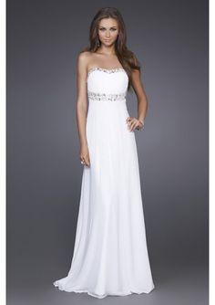 2d6f96c8326e Elegant White Gown by La Femme 15027 Style  Name  Elegant Strapless Prom  Dress Closure  Zipper Details  Sparkling Accents