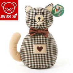doll wardrobe on sale at reasonable prices, buy Duomaomao security door stop cat doll dolls birthday gift female from mobile site on Aliexpress Now! Sewing Toys, Sewing Crafts, Doorstop Pattern, Animal Templates, Sewing To Sell, Fabric Toys, Sewing Pillows, Cat Doll, Cat Crafts