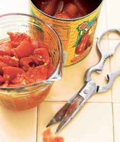 Scissors as Tomato Choppers | New roles for items that can help you get dinner on the table.