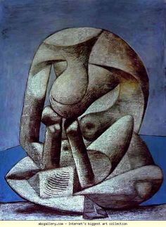 Pablo Picasso. Young Girl Reading a Book  on the Beach.