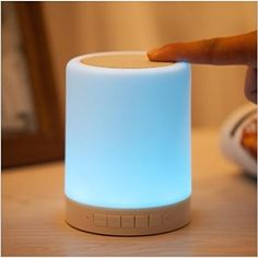 LED Bluetooth Speaker, Leadleds Portable Wireless Speaker with Mood Light, Dimmable Color Changing RGB Bedside Lamp for Bedroom Music Beats, Led Desk Lamp, Light Project, Bluetooth Speakers, Solar Lights, Light Table, Night Light, Hands, Touch