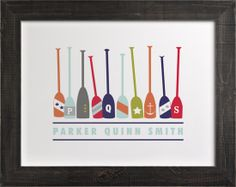 Monogrammed Oars Art Print from Minted