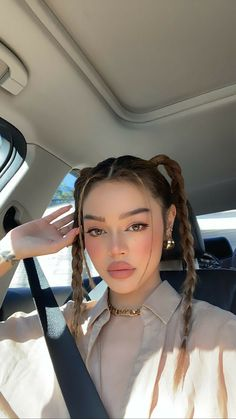 Baddie Hairstyles, Trendy Hairstyles, Straight Hairstyles, Girl Hairstyles, Braided Hairstyles, Hair Inspo, Hair Inspiration, Cabelo Inspo, Aesthetic Hair