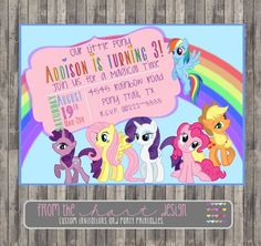 My Little Pony Birthday Party Invitation by FromTheHartDesign, $15.00