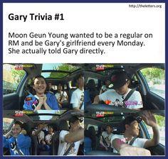 Running Man Kang Gary Trivia