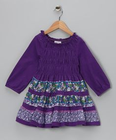 Take a look at this Purple Smocked Dress - Toddler & Girls on zulily today!