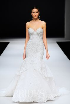 A beaded mermaid gown by @eveofmilady   Brides.com