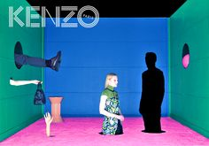 Kenzo Campaign — Red Eyewear Ltd Collage Design, Collage Art, Kenzo, Teaser Campaign, Window Display Design, Composition, Poster Design, Fashion Advertising, Fashion Graphic