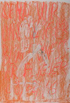 YOSEF JOSEPH DADOUNE    Withe body   Sehn wir uns wieder blüht weisser flieder 08/02/16   Pastels on Nostalgique Hahnemühle paper  59,4 x 84,1cm (A1) - 190g/m²  Photographer: Yigal Pardo