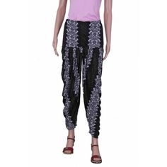 Home » Designer Black Patiala Pants with White & Green texture print view more amazing patiala pants