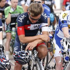 Heinrich Haussler (IAM Cycling) mourns teammate Kristof Goddaert, who was killed in a training crash in Belgium on Tuesday.