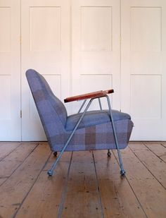 Very rare Ernest Race Woodpecker chair with arms, never went into full production